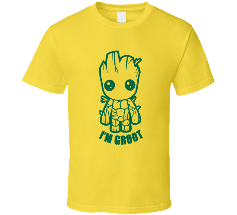 Guardians of the Galaxy Vol 2 Baby Groot I'm Groot distressed style fan t-shirt