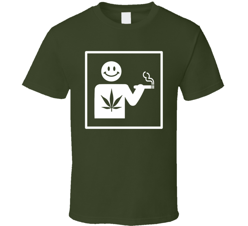 Universal Toke sign funny weed stoner toking allowed 420 t-shirt