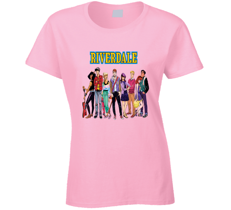 Riverdale cartoon cast shot Archie and the gang t-shirt