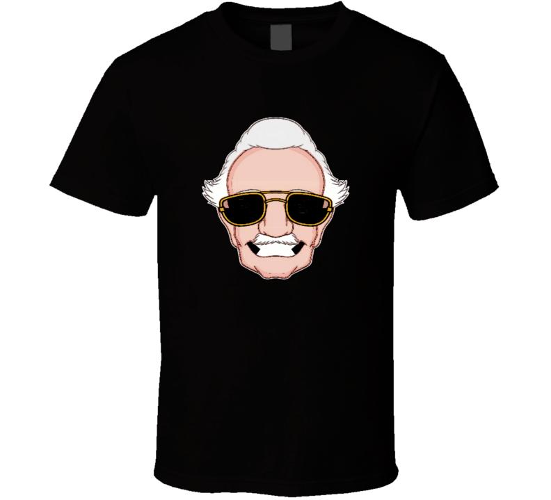 Stan Lee comic book effect portrait Marvel Universe t-shirt