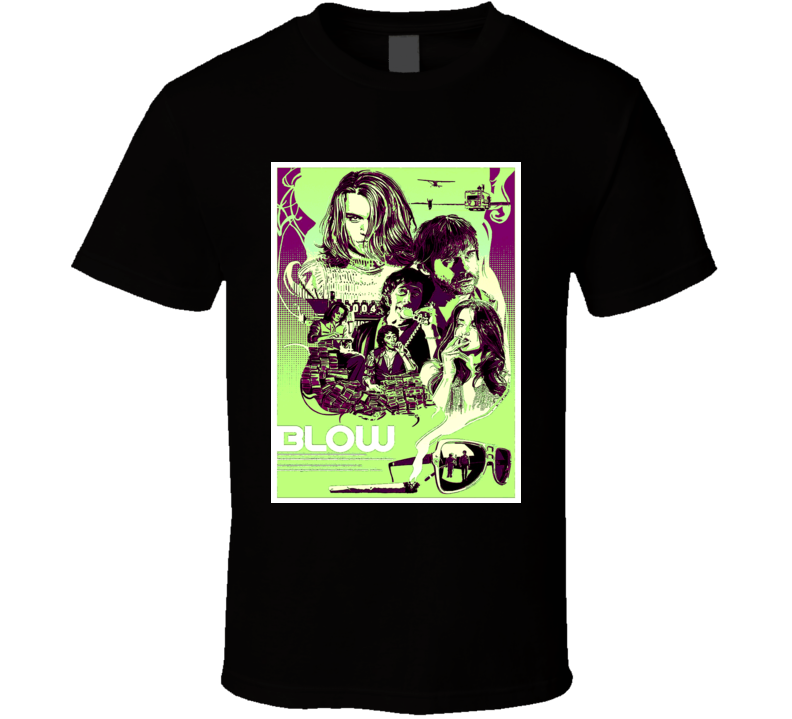 Blow movie poster style George Jung 60's California scene t-shirt