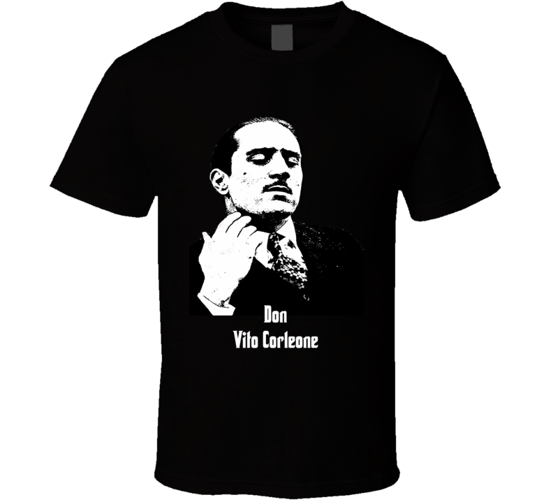 Don Vito Corleone young Robert Deniro Godfather vintage style t-shirt