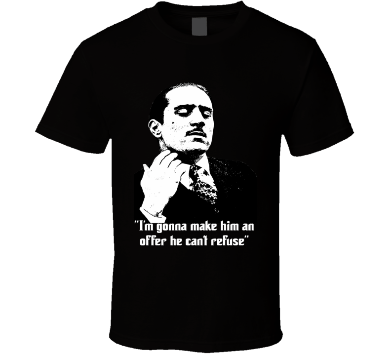 Don Vito Corleone Offer he can't refuse Godfather vintage style t-shirt