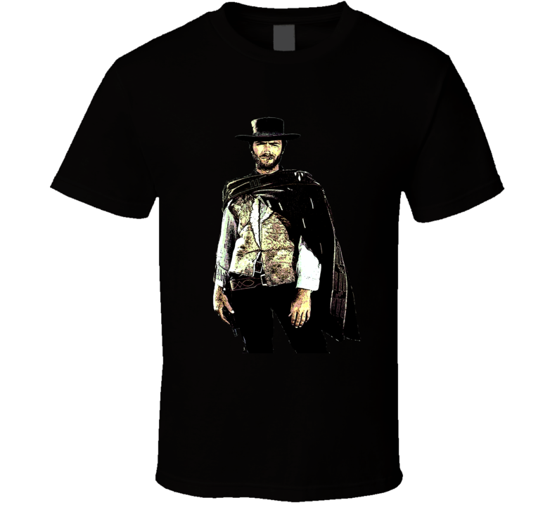 Clint Eastwood Western Movie The Good Classic spagehetti western Leone film fan t-shirt