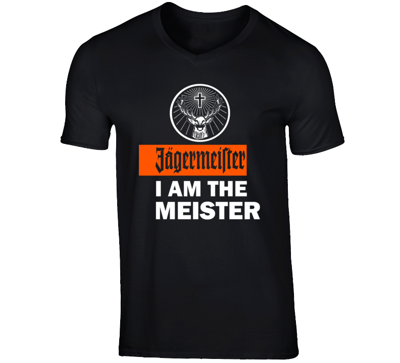I Am the Meister Jagermeister new ad logo t-shirt
