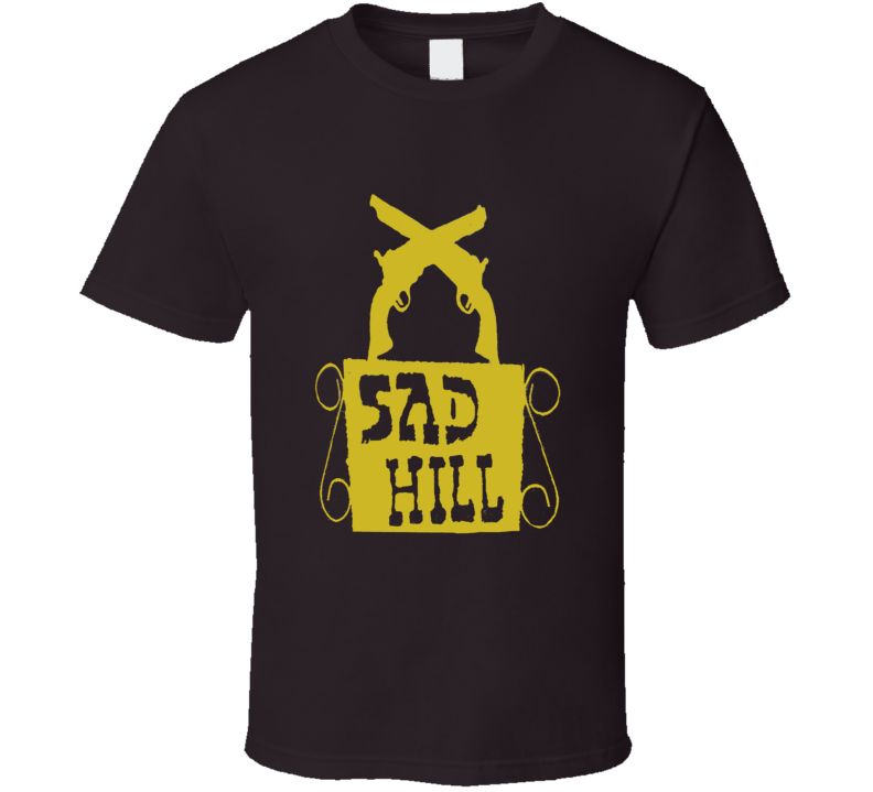 Sad Hill Cemetary sign The Good The Bad The Ugly Western movie fan t-shirt 2