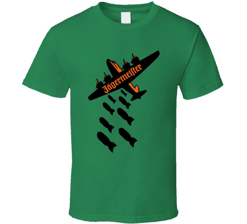 Jagermeister Jager bomber funny plane bomber shots fan t-shirt