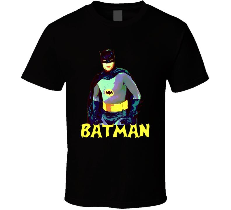Adam West Original Batman comic book effect t-shirt