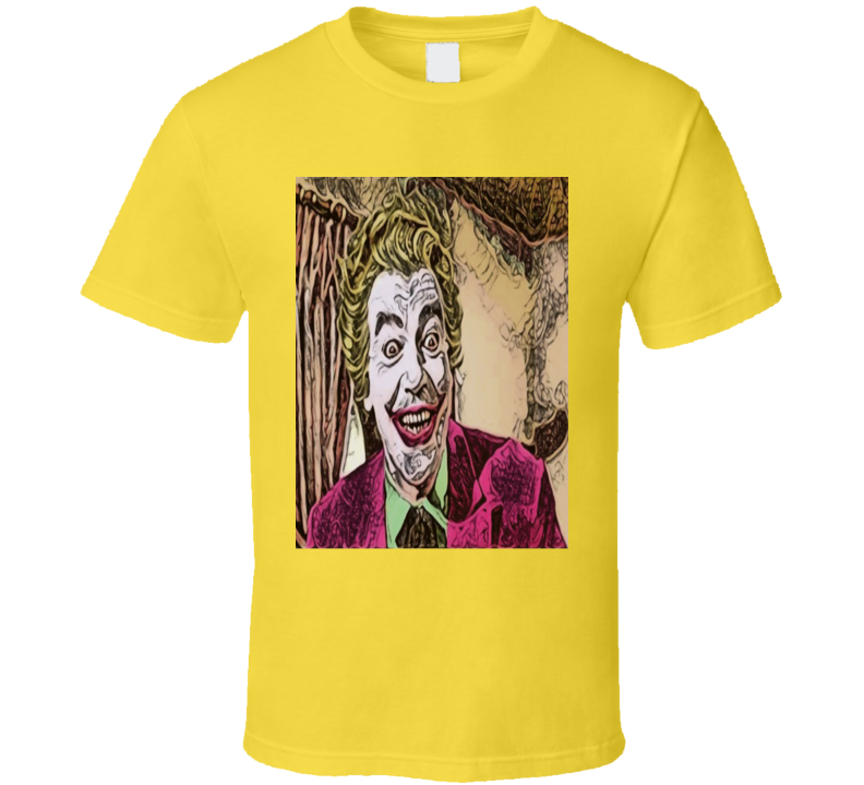 The Joker Original Batman TV Series Cesar Romero retro TV fan art effect  t-shirt