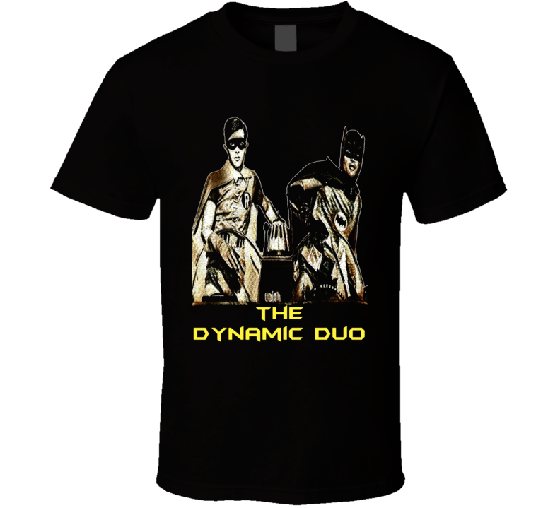 The Dynamic Duo Batman and Robin retro TV series comic book effect - exclusive t-shirt 2