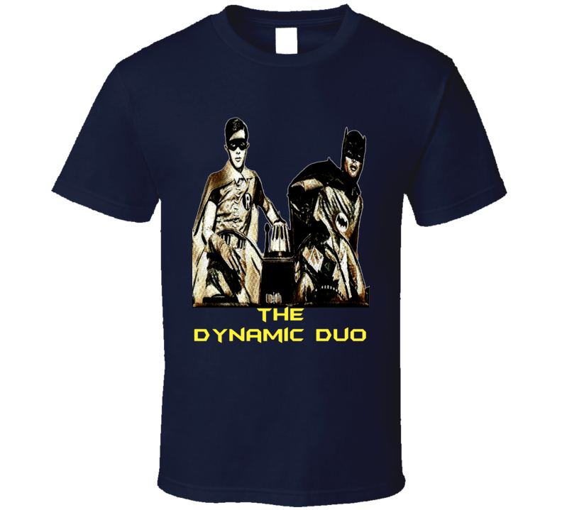 The Dynamic Duo Batman And Robin Retro Tv Series Comic Book Effect - Exclusive T-shirt