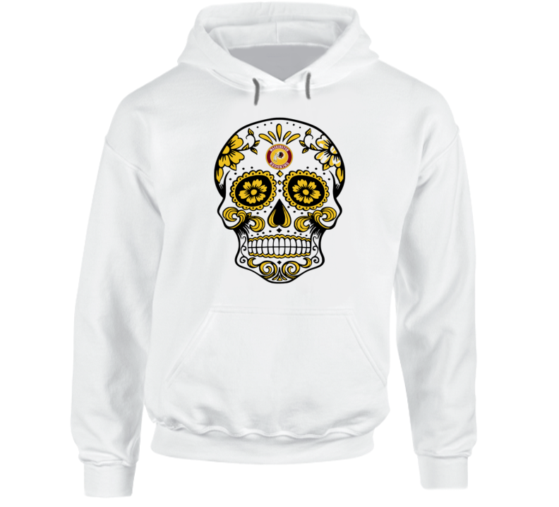 Washington Redskins Sugar Mask Skull logo fan t-shirt