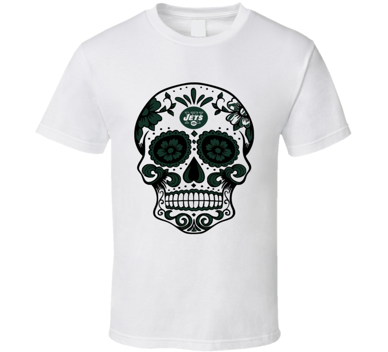 New York Jets Sugar Mask Skull logo fan t-shirt