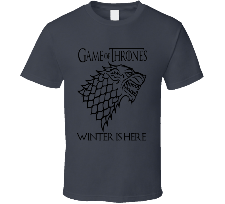 Game of Thrones Winter is Here Stark  Logo GoT fan t-shirt