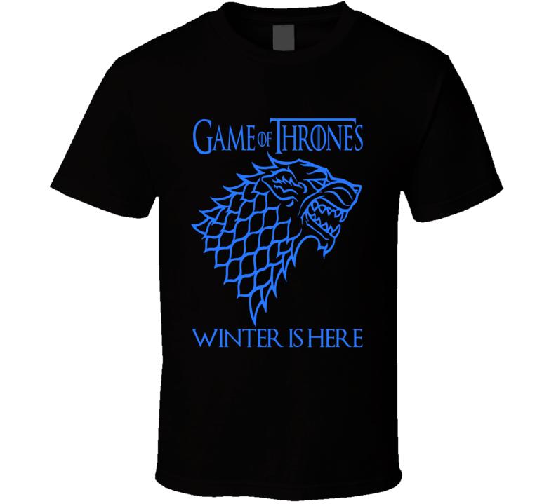 Game of Thrones Winter is Here Stark  Logo GoT fan t-shirt 2