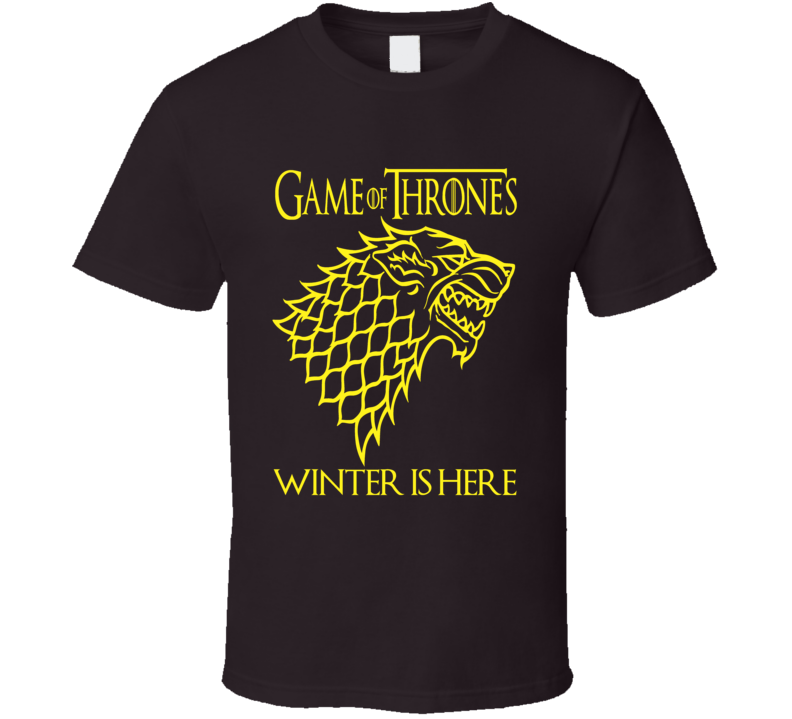 Game of Thrones Winter is Here Stark  Logo GoT fan t-shirt 3