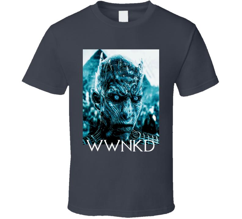 The Night King WWNKD Game of Thrones GOT White Walkers t-shirt Black