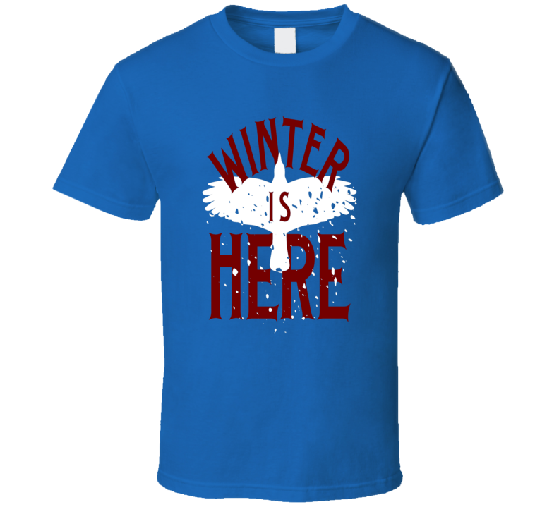 Winter is Here Game of Thrones GoT fan t-shirt Red