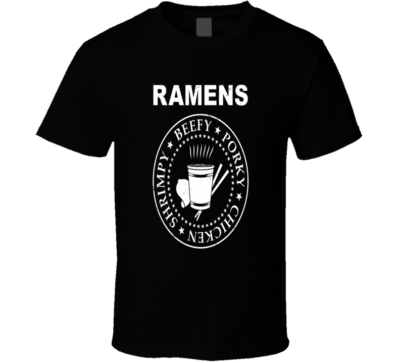 Ramen Noodles student food Asian 1 cup meals funny logo t-shirt