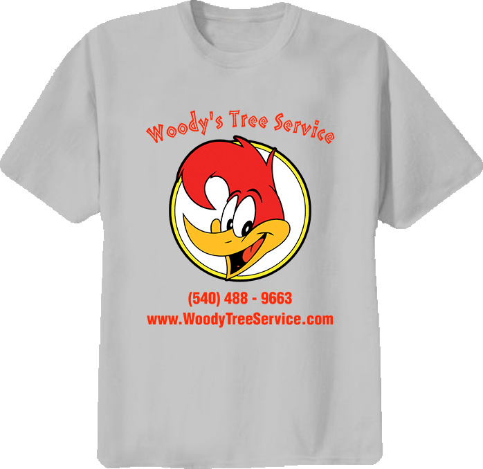 Woody Woodpecker Tree Service retro classic cartoon comics TV t-shirt
