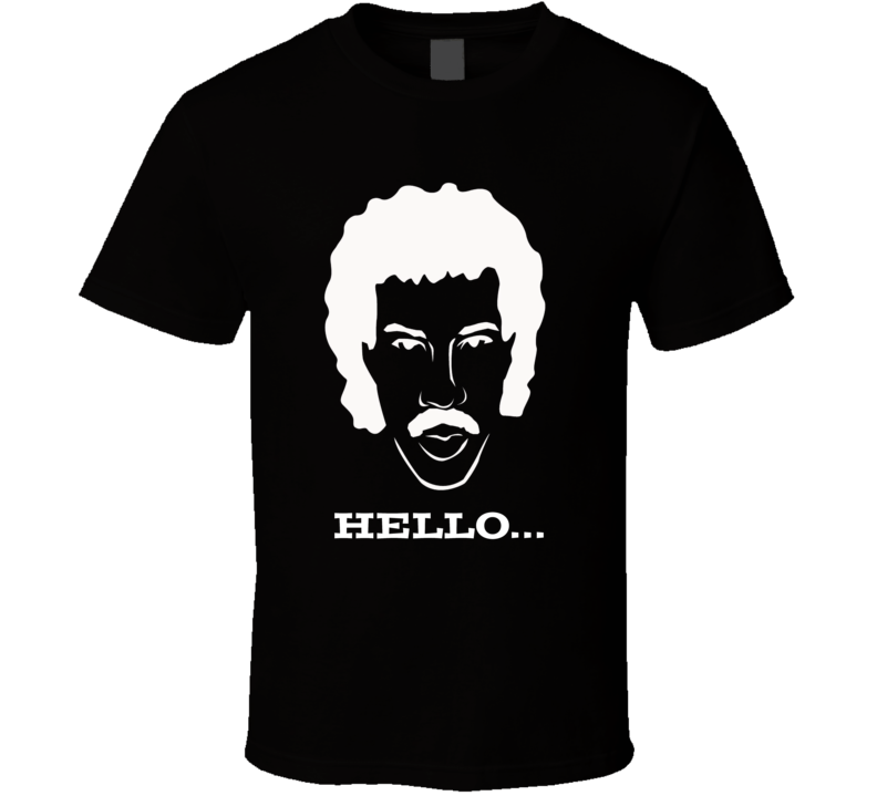 Lionel Ritchie sketch outline funny Hello song retro trending t-shirt 2