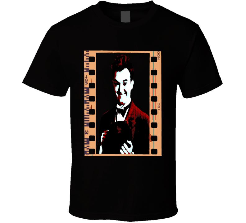 Stan Laurel Classic Comedy Vintage Film Strip Effect T-Shirt