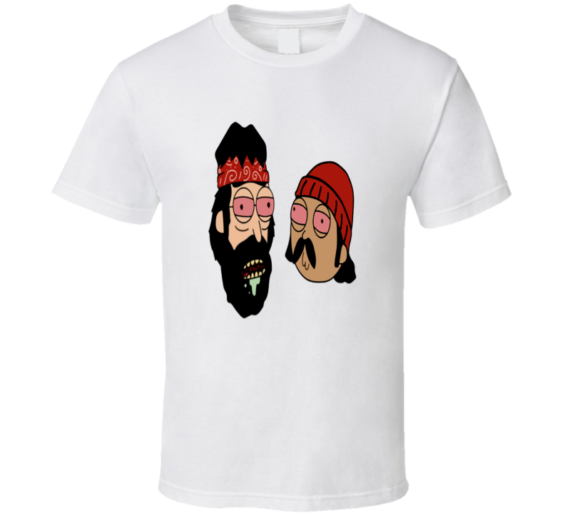 Rick and Morty Cheech and Chong Parody Cartoon T-Shirt