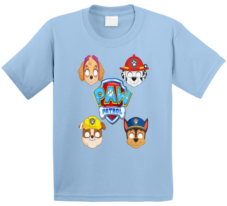 Paw Patrol Children's TV Cartoon Characters T-Shirt