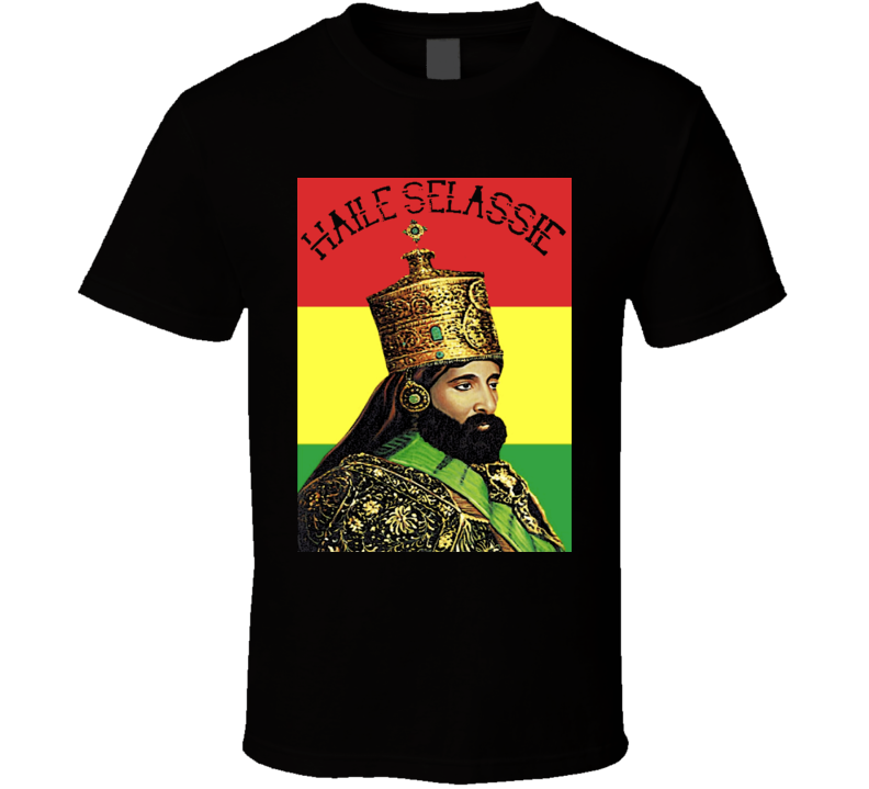 Haile Selassie Rastafari King of Kings Ethiopia Emperor T-Shirt
