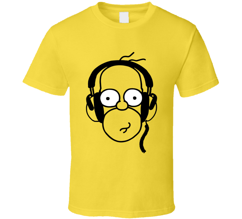 Homer Simpson With Headphones The Simpsons Fan T-Shirt