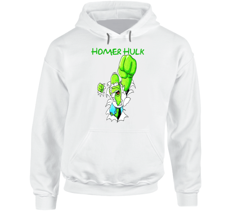 Homer Hulk Parody Simpsons Bruce Banner Fan T-shirt