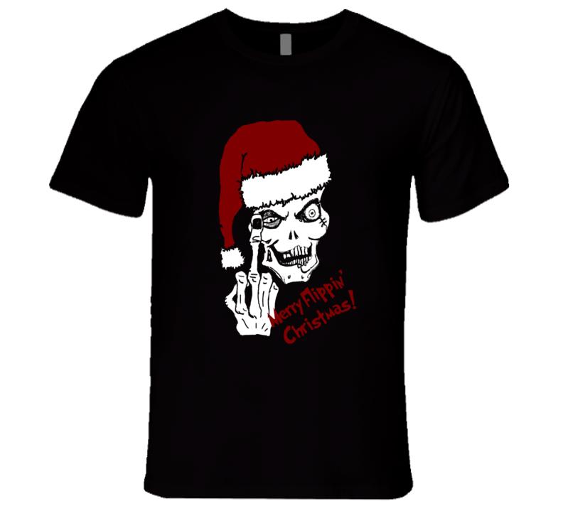 Merry Flippin Christmas Holiday Season Punk Style T-Shirt