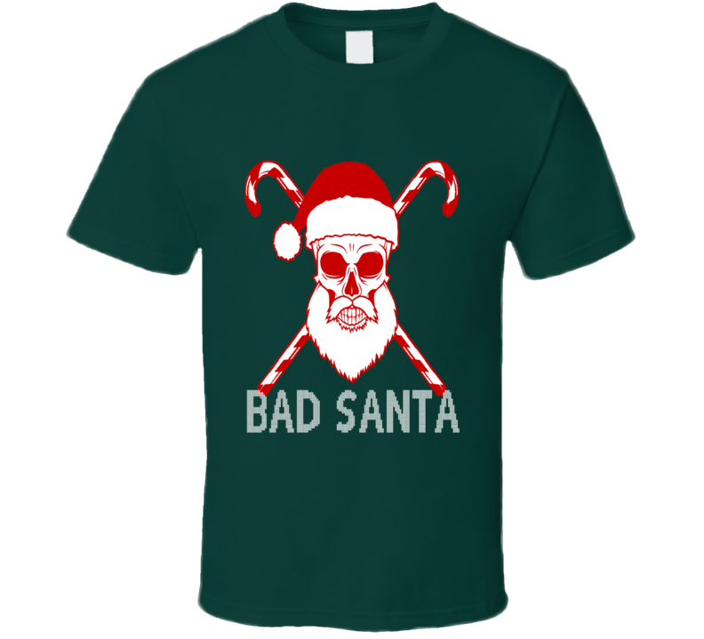 Bad Santa Ugly Biker Christmas Sweater T-Shirt