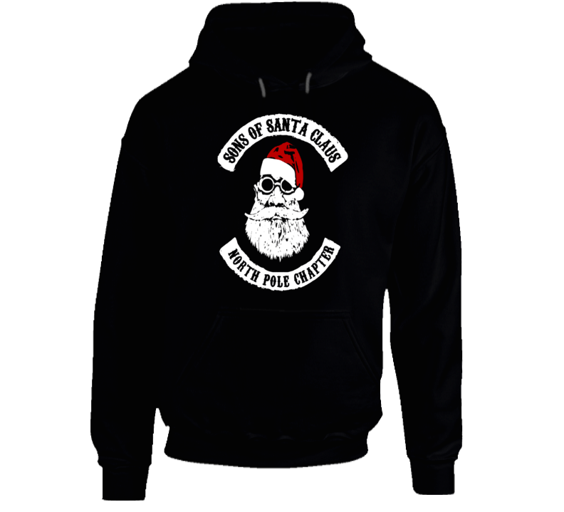 Sons of Santa Claus North Pole Chapter Christmas Biker T-Shirt