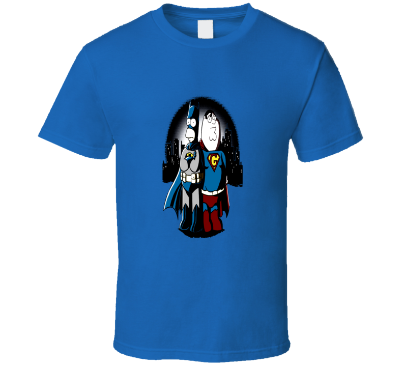 BatHomer Super Griffin Man Batman Superman Parody Simpson T-Shirt