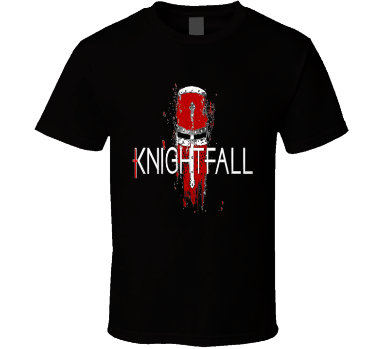 Knightfall Templar TV Series Distressed Style Logo T Shirt