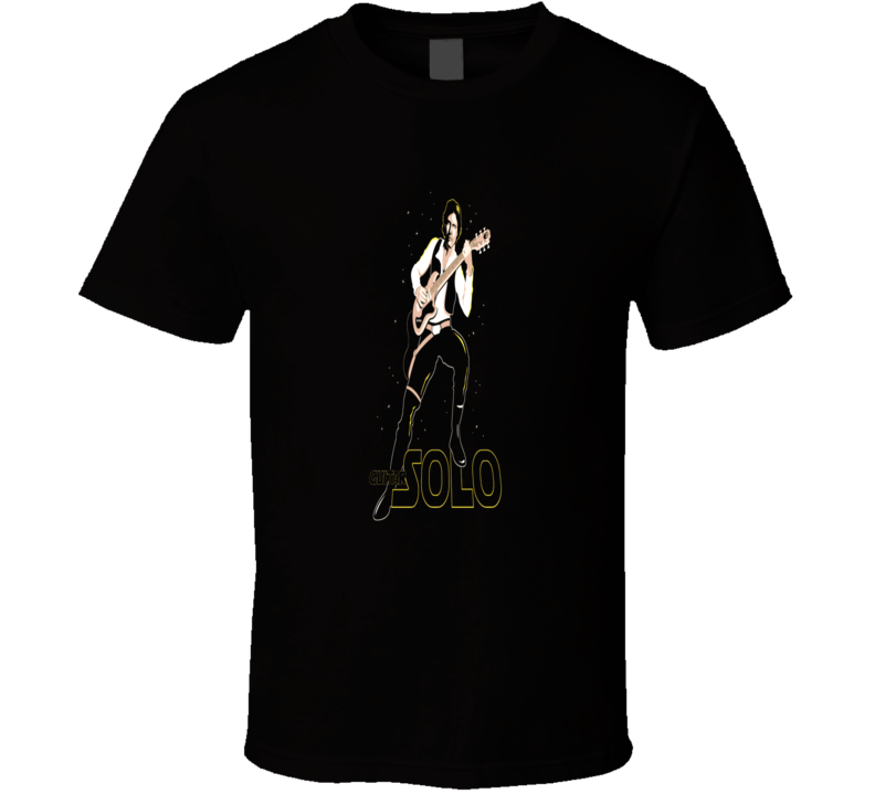 Han Solo Guitar Star Wars Parody Funny Music movie T-Shirt