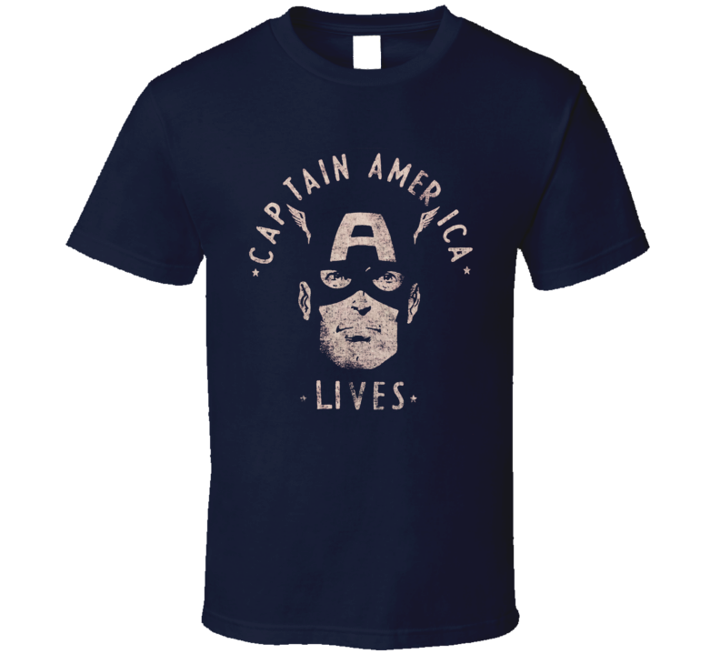 Captain America retro style distressed Superhero T-Shirt