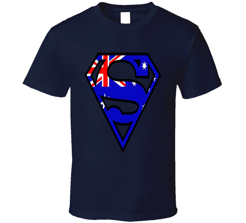Australia Superman Logo Aussie Flag Pride Super Hero T-Shirt
