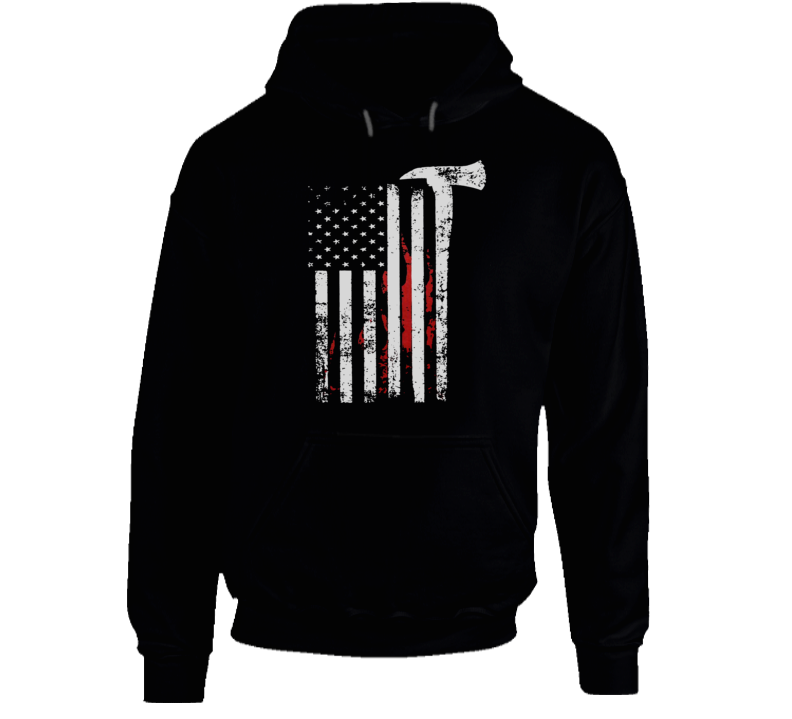 Firefighter Pride Memorial American Flag Tribute Hoodie