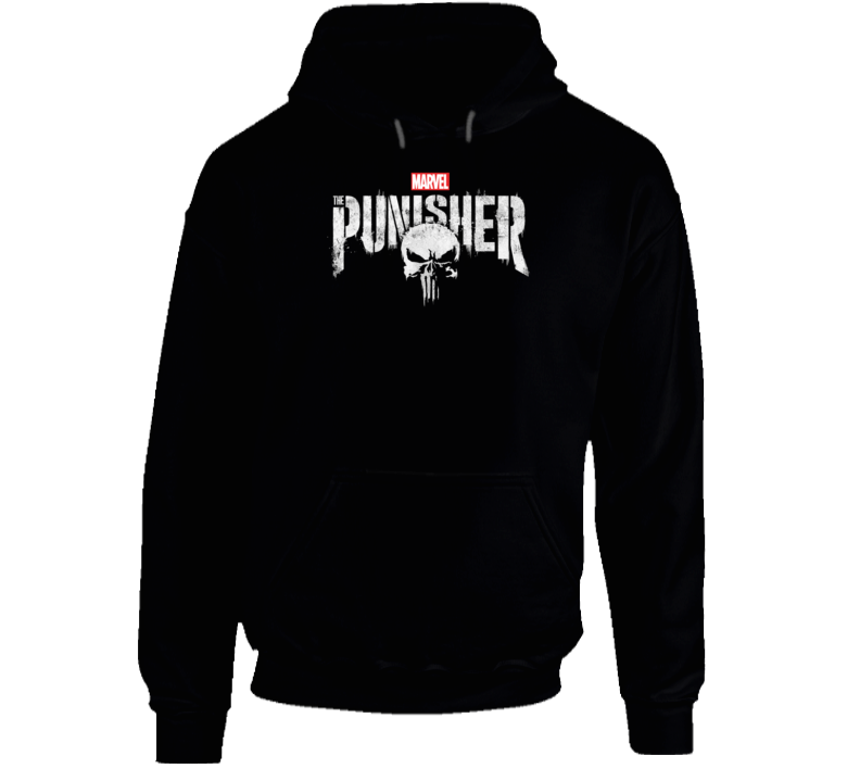 The Punisher Marvel Comics Fan Skull Hooded Pullover