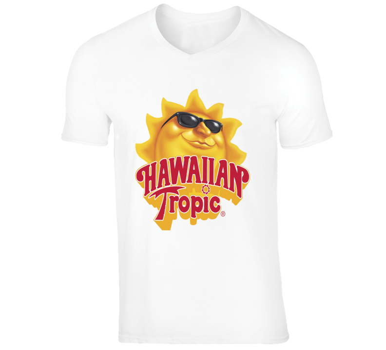 Hawaiian Tropic Suntan Oil Lotion Sun Logo Retro Style T-Shirt