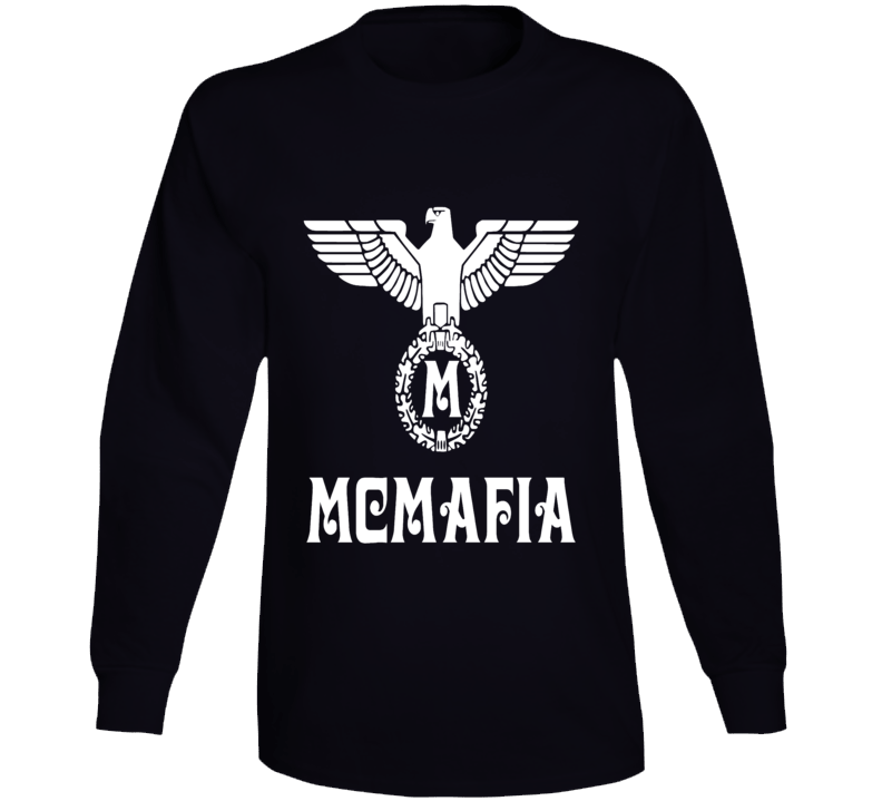 Mcmafia Tv Series Retro Style German White Logo T-shirt