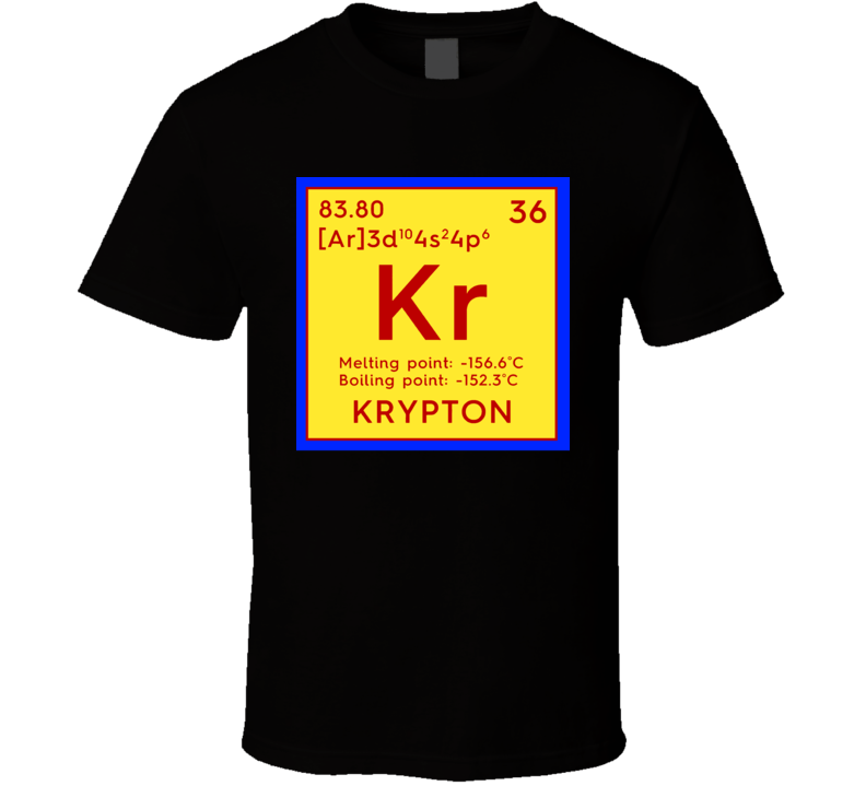 Krypton Elemental Table Superman Planet House El T-Shirt