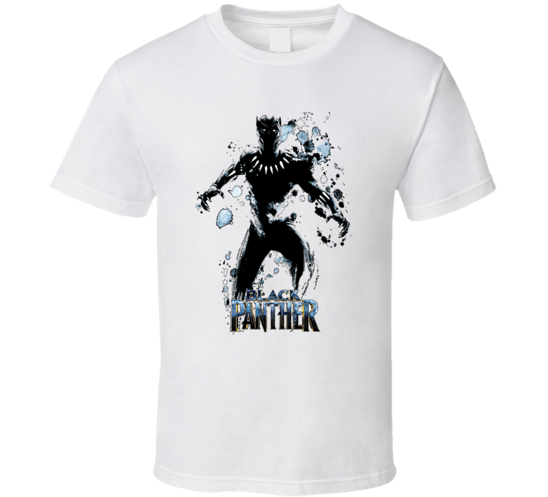Black Panther Super Hero Action Comics Effect T-Shirt