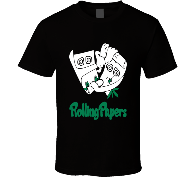 Rolling Papers Funny Weed Stoner Blunts T Shirt