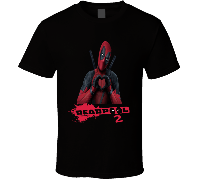 Deadpool 2 Funny I Heart DP2 Superhero movie fan T Shirt