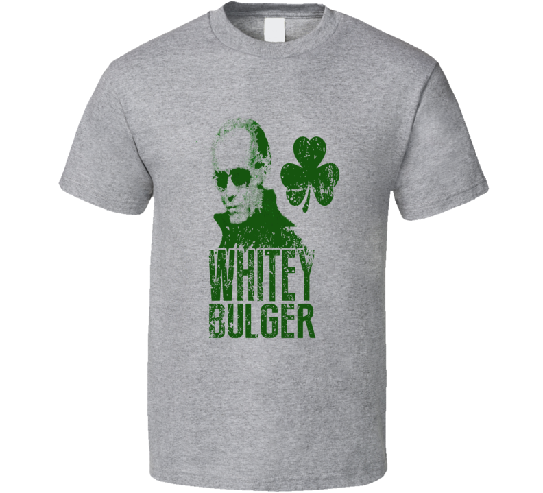 James Joseph Whitey Bulger Jr Black Mass The Departed Depp Jack Nicholson Irish mobster Saint St Patricks Day Boston T Shirt