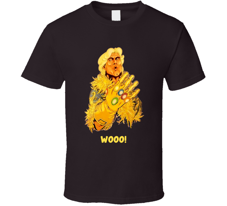Rick Flair Infinity War Spoof Gaunlet Wooo Marvel Wrestling T Shirt