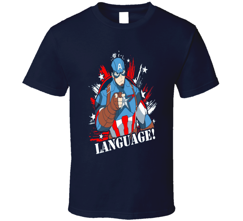 Captain America Comic Style Language Funny Infinity War T Shirt
